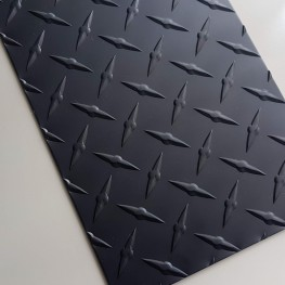 Black Anodized Diamond Plate 0.063 x 6 x 48