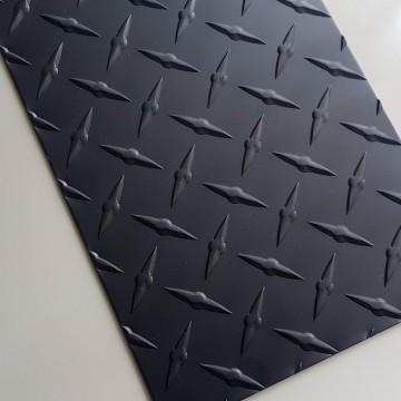 Black Anodized Diamond Plate 0.063 x 6 x 48