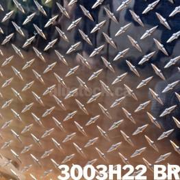 Diamond Checker Plate, Brite, Polished 3003-H22