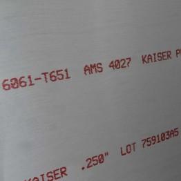 """0.250"""" x 8.125"""" x 8.125"""" 6061-T651"""